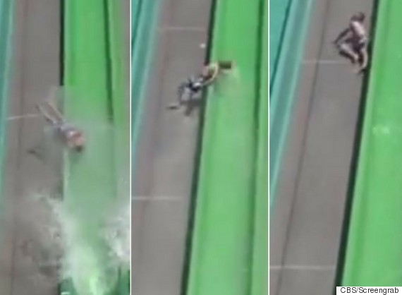 Horrifying moment young boy is thrown from ride at Californian water park