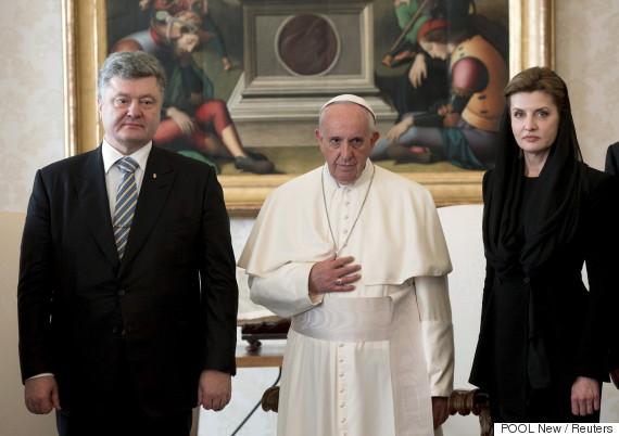 pope francis petro poroshenko