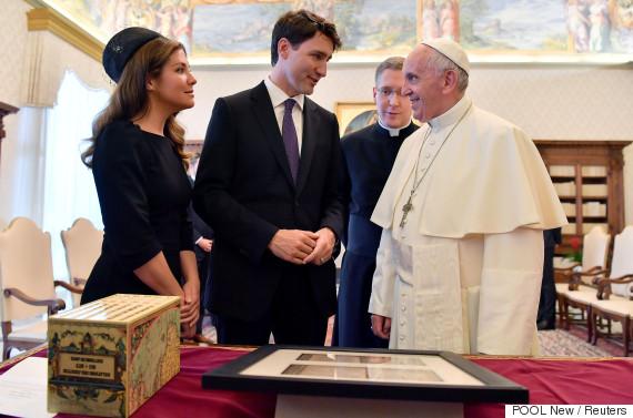 justin trudeau pope