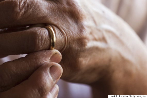 elderly man wedding ring