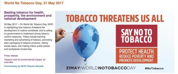 WORLD NO TABACCO DAY