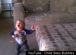 Child Sees Bubbles