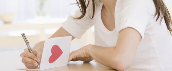 WRITING CARD LOVE