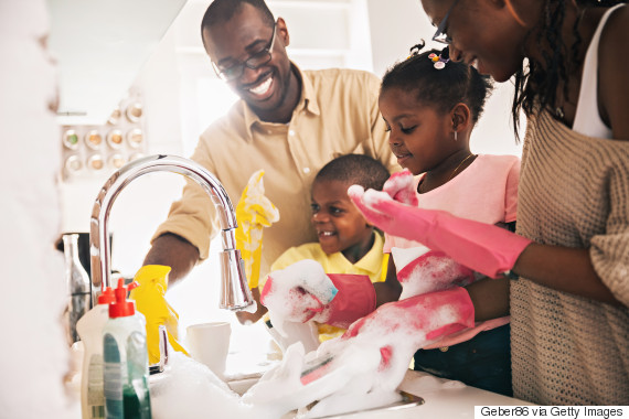 mom dad household chores