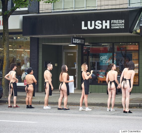 lush naked event