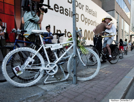 ghost bike toronto
