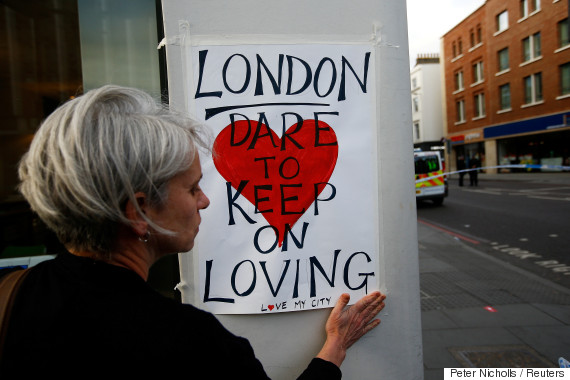 london attack sign