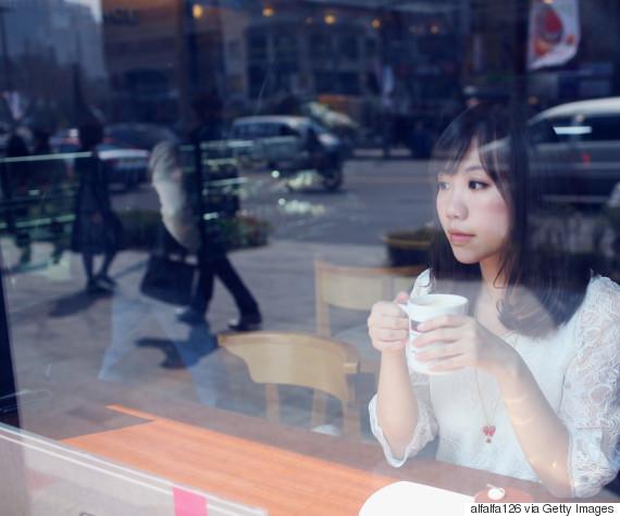 asian woman think