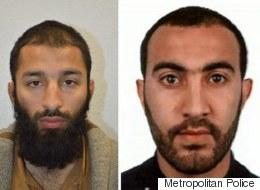 영국 경찰이 테러범 2명의 신원을 공개했다(사진)