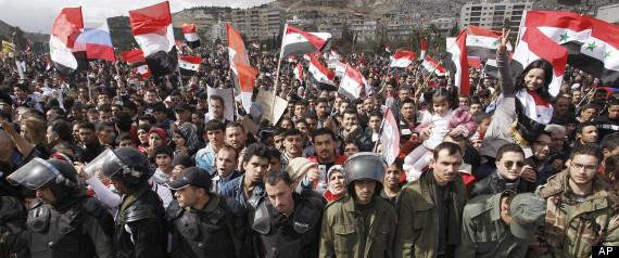 SYRIA CRISIS CLASHES DAMASCUS