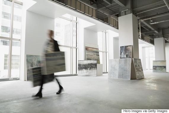 art gallery blurred