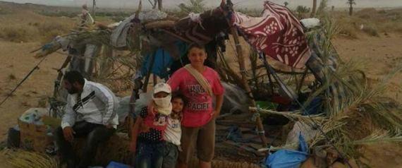 REFUGIES SYRIENS DESERT MAROC ALGERIE