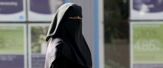 A VEILED WOMAN IN UK