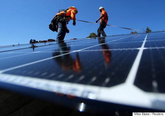 solar panels buildings
