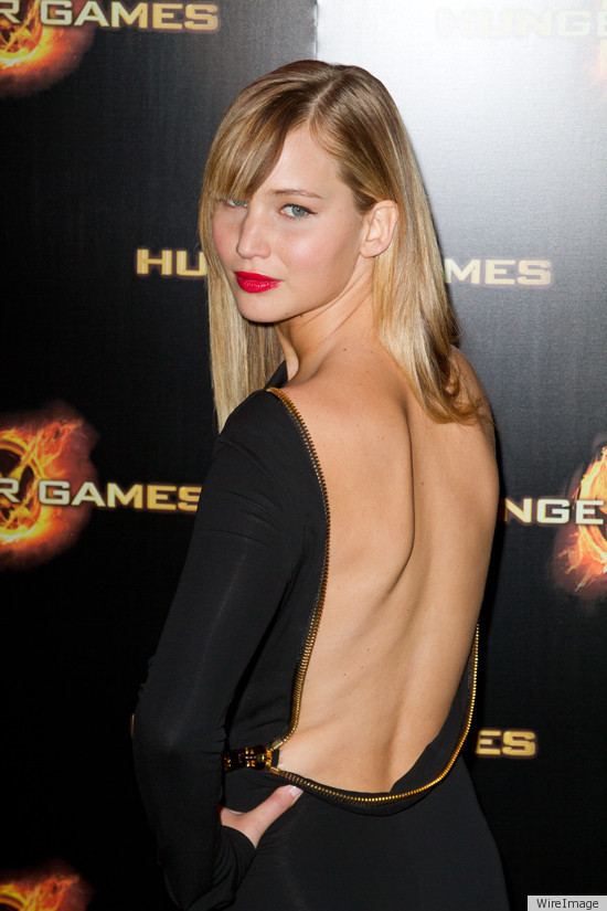 Jennifer Lawrence, Hunger Games, Tom Ford, unzip backless