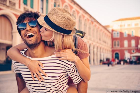 kissing people