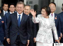 김정숙 여사가 문대통령의 말에 정색한 이유(영상)