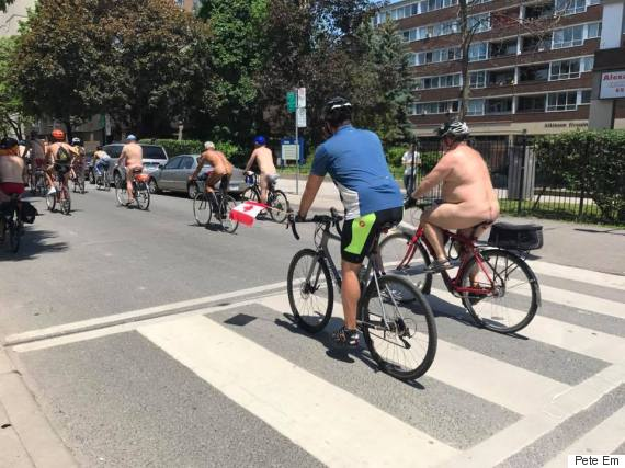 world naked bike ride day toronto