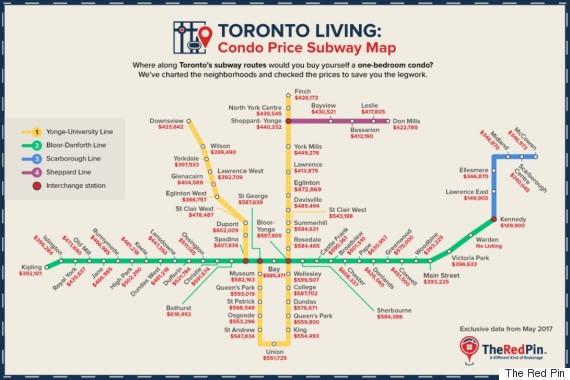 condo price subway map