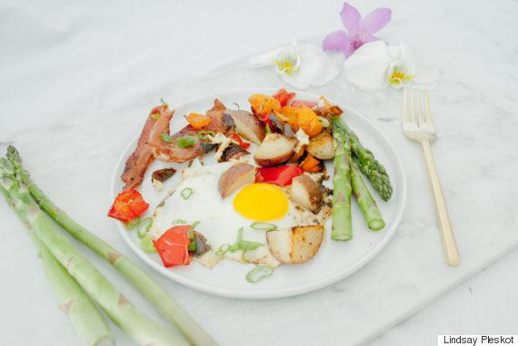 egg bacon hash
