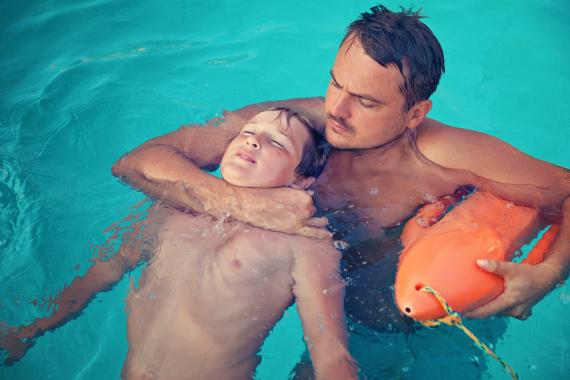 drowning kid