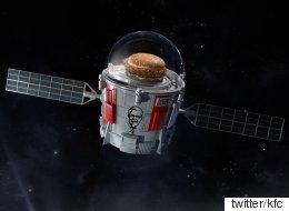 KFC가 징거버거를 우주에 배달한다(공식발표)