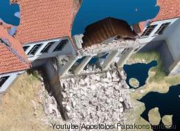 Η πληγείσα Βρίσα στην τρισδιάστατη απεικόνισή της από ομάδα του Πανεπιστήμιου Αιγαίου