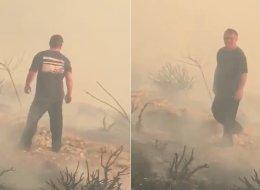 بالفيديو.. ملك الأردن يحمل أسطوانة إطفاء ويشارك بإخماد حريق في محيط القصور الملكية