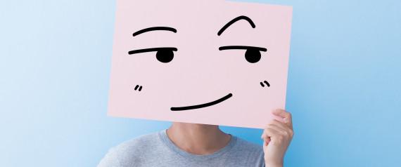 MAN PAPER FACE EYE