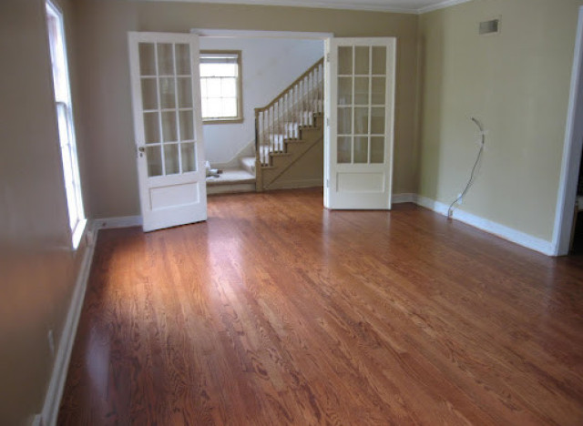 Diy ideas tips for refinishing wood floors huffpost for Sanding hardwood floors
