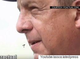 코스타리카 대통령이 생방송 중 말벌을 삼키다
