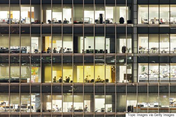 seoul office night
