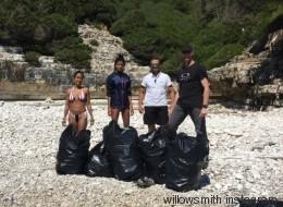 Οι νεκροί γλάροι στους Αντίπαξους έκαναν τη κόρη του Will Smith να καθαρίσει 3 παραλίες του νησιού