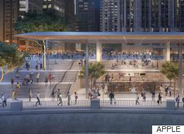 새로운 시카고 애플스토어의 지붕은 맥북에어다