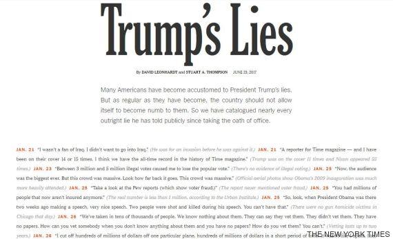 trump s lies