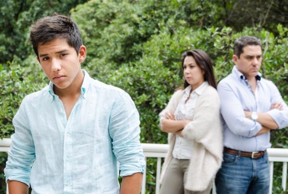 teenager father angry