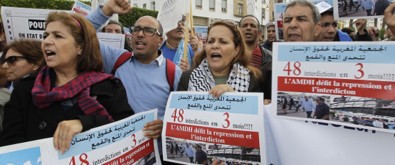 PROTEST AMDH IN MOROCCO