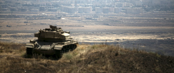 AN ISRAELI TANK IN THE GOLAN HEIGHTS