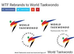 세계태권도연맹(WTF)이 마침내 이름을 바꾼다