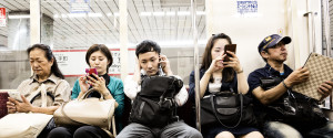 Smartphone Train Japan
