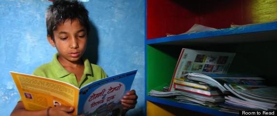 NEPALI SCHOOLBOY READING