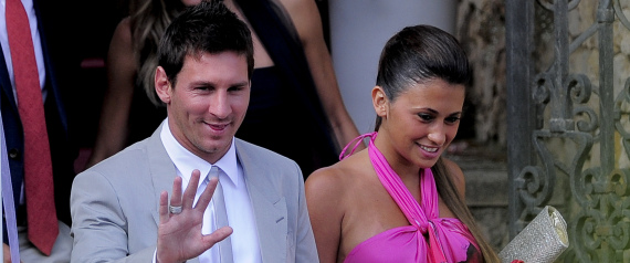 MESSI WITH HIS GIRLFRIEND