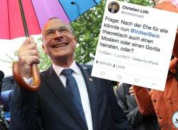 AfD-Pressesprecher schießt mit widerlichem Tweet gegen Grünen-Politiker Volker Beck