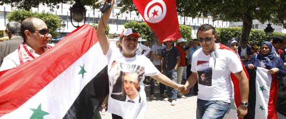 SYRIA FLAG TUNISIA