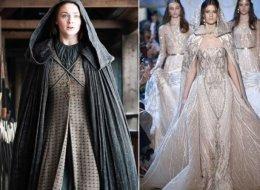 صور: مصمم الأزياء اللبناني إيلي صعب يستوحي مجموعة أزياء رائعة من Game of Thrones