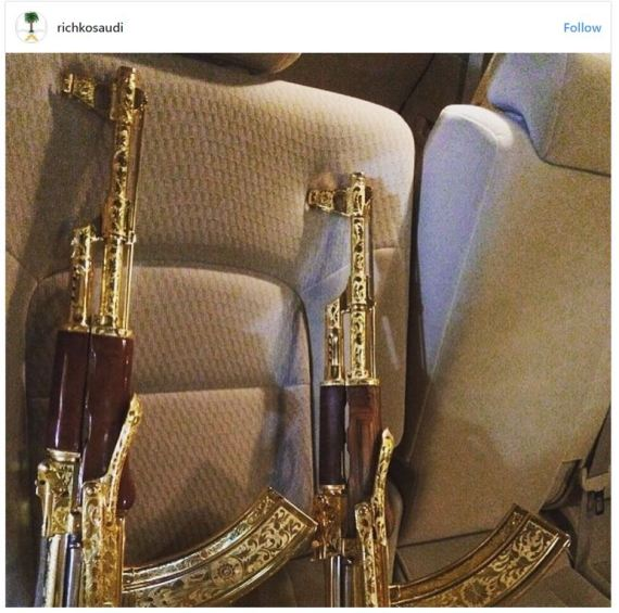 بالصور.. حيوانات نادرة وأسلحة ذهبية.. حسابٌ على إنستغرام يوثِّق بذخ الشباب السعودي O-2-570