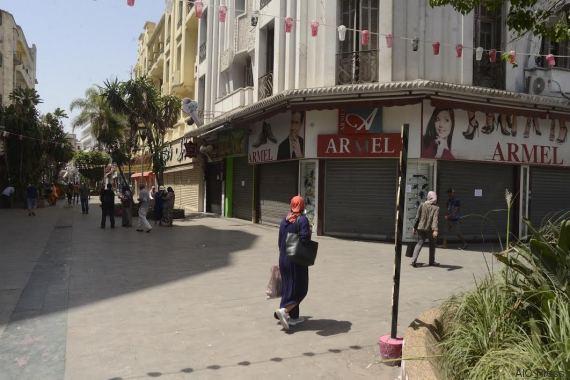 greve commerçants casablanca