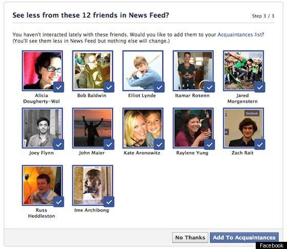 Facebook 'Acquaintance' List Helps You Sort Friends, Keep