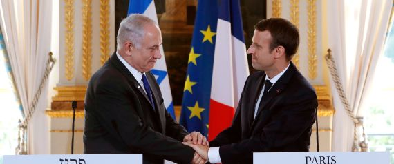 MACRON AND NETANYAHU