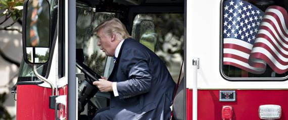 DONALD TRUMP FIRE TRUCK